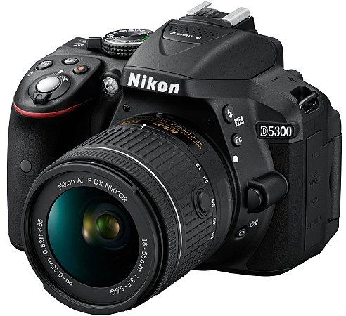 Câmera Nikon D5300 Kit com Lente Nikon AF-P 18-55mm f/3.5-5.6G VR