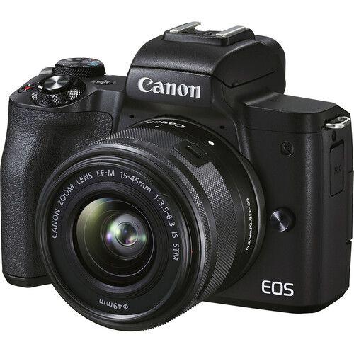 Câmera Canon EOS M50 Mark II Mirrorless Kit com Lente Canon EF-M 15-45mm f/3.5-6.3 IS STM