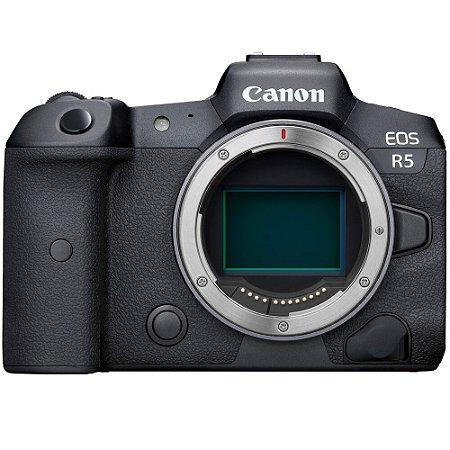 Câmera Canon EOS R5 Mirrorless Corpo com Adaptador Control Ring Mount EF-EOS R