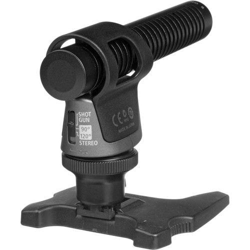 Microfone Canon DM-100 Directional Stereo para Câmera Filmadora VIXIA HF