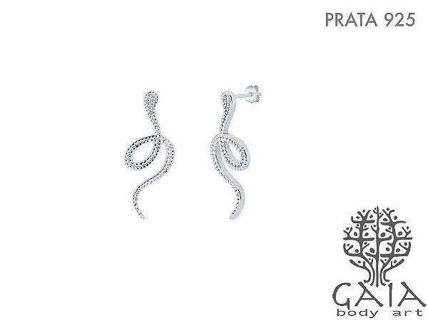 Brincos Prata 925 Cobra Coral