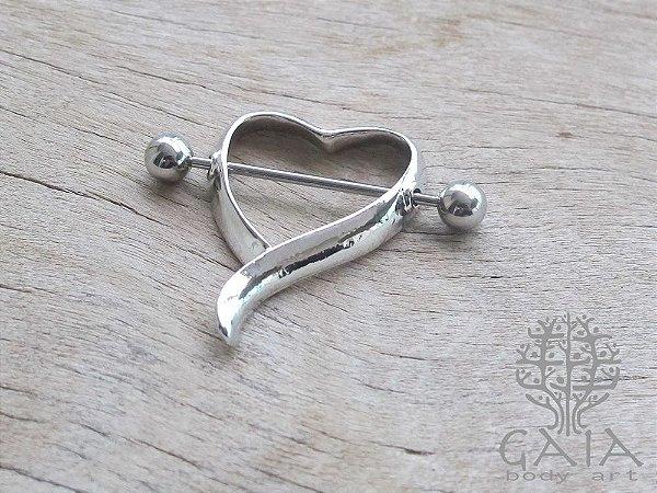 Piercing Mamilo Coração