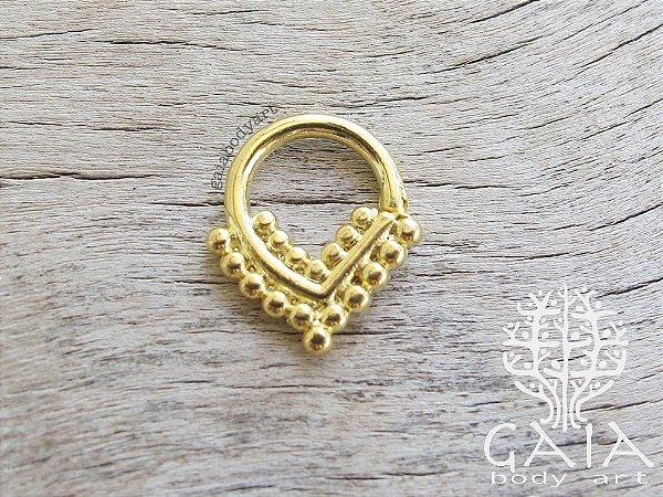Piercing Septo Indiano Dourado