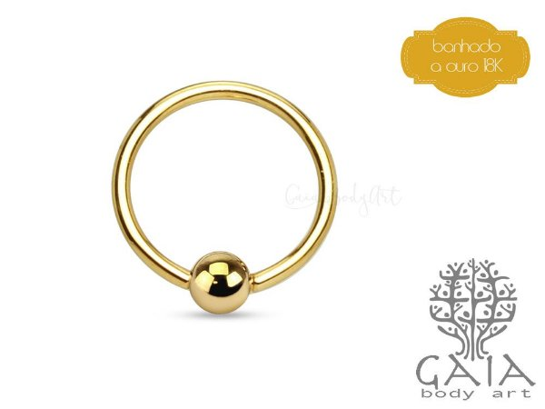 Captive Dourado Banhado a Ouro 18k