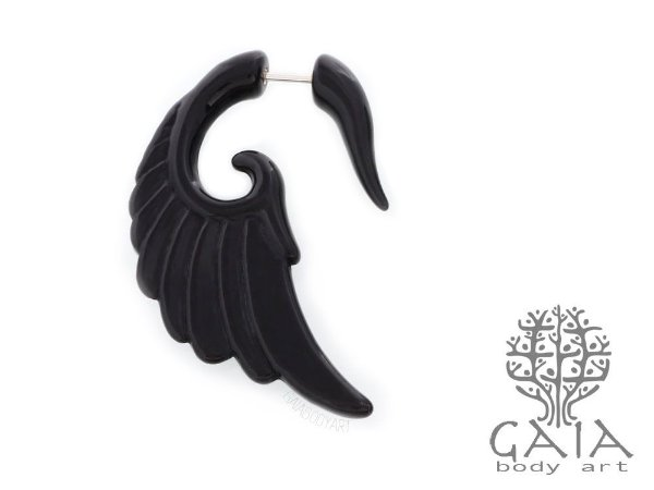 Falso Alargador Black Wing