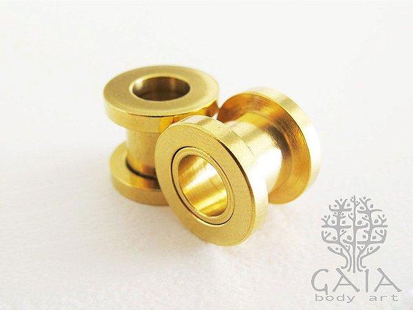 Alargador Anodizado Dourado Clássico