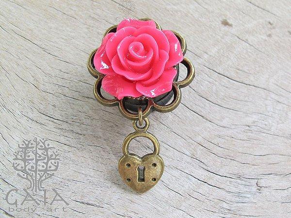 Alargador Rosa e Bronze Lucchetto