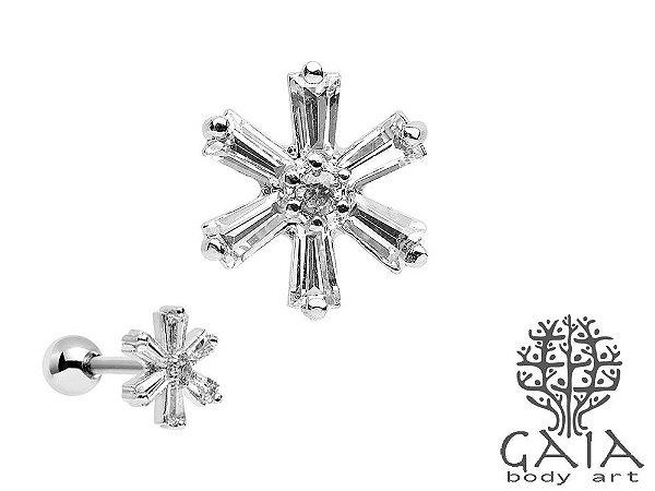 Micro Barbell Zircônias Icy