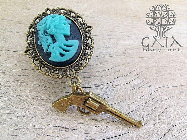 Alargador Lolita Skeleton Turquesa + Pistola
