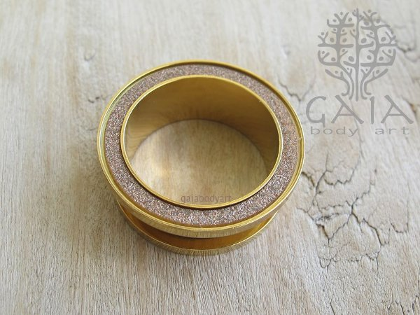Alargador Aço Dourado Glitter Fendi