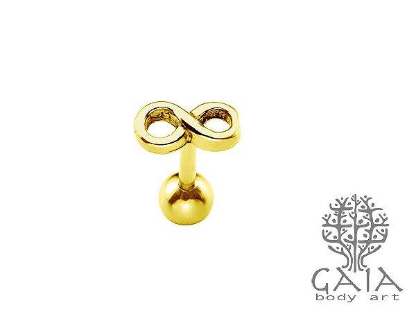 Micro Barbell Dourado Infinito