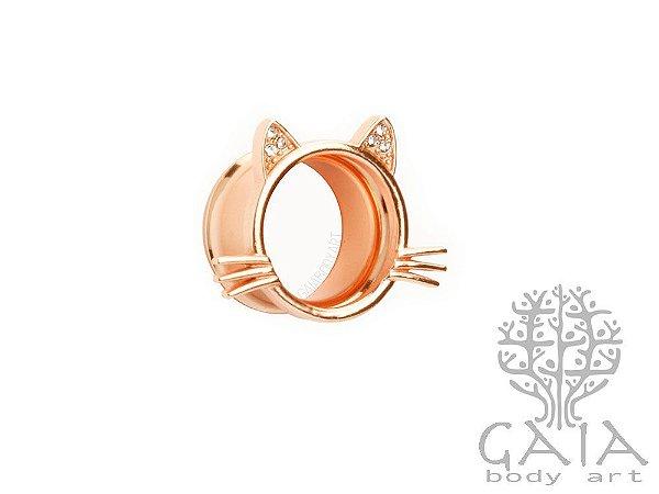 Alargador Gato Ouro Rosa
