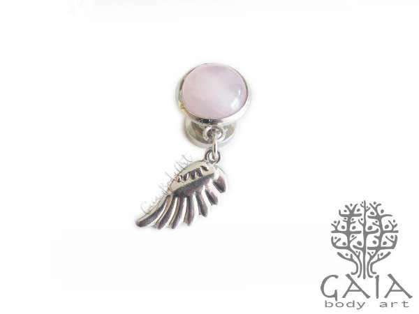 Alargador Angel Wing Quartzo Rosa