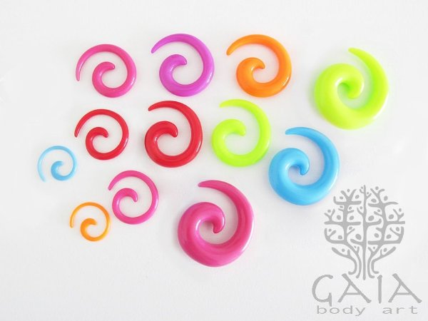 Alargador Espiral Caracol Cores