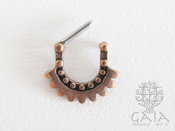 Piercing Clicker Septo Asteca Bronze