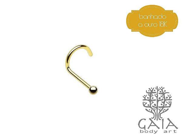 Nostril Micro Esfera Dourado