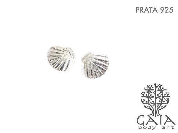 Brincos Prata 925 Concha [o par]