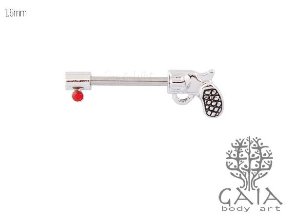Piercing Mamilo Pistola