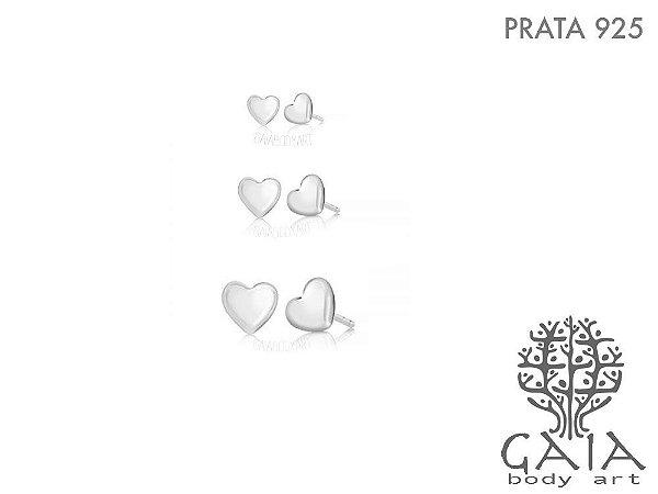 Brincos Prata 925 Coração [o par]