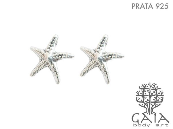 Brincos Prata 925 Estrela do Mar [o par]