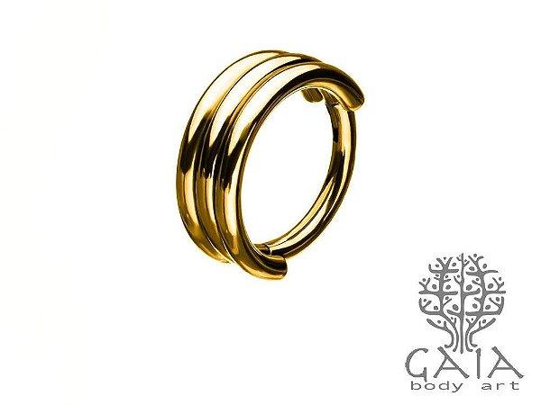 Argola Articulada Tripla Namíbia Gold