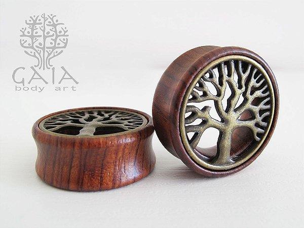 Alargador Madeira e Metal Árvore