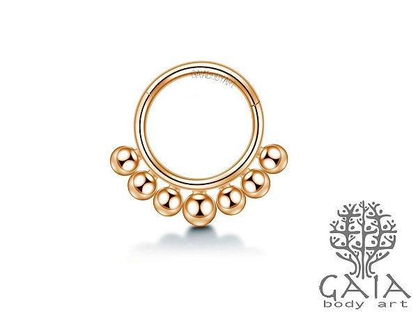 Argola Articulada Spheres Ouro Rosa