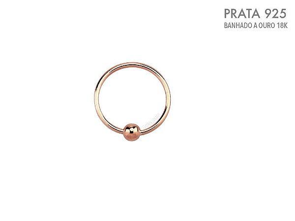 Argola Captive Prata 925 Ouro Rosa