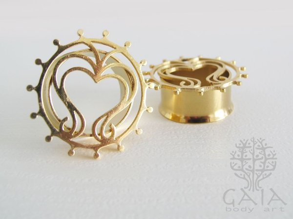 Alargador Dourado Coração