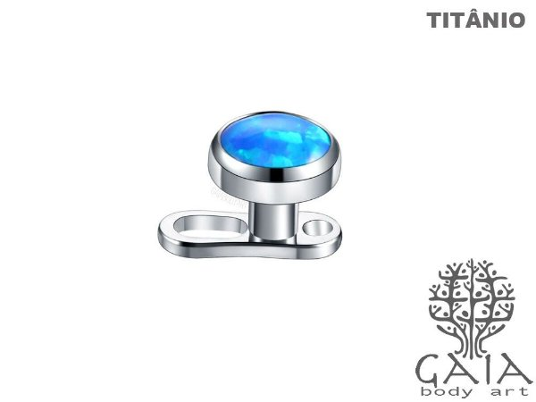 Microdermal Titânio Opala Azul Royal