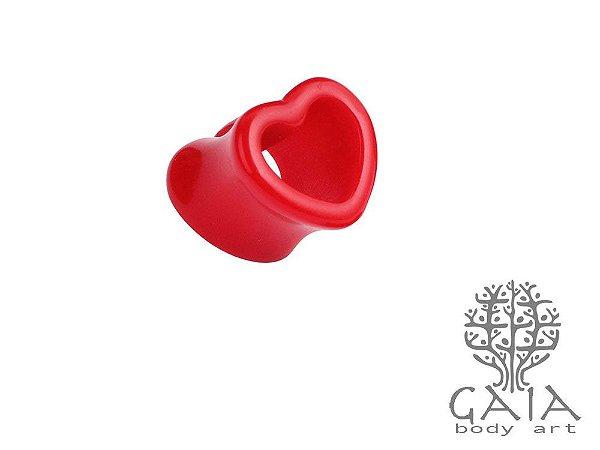 Alargador Coração Vermelho