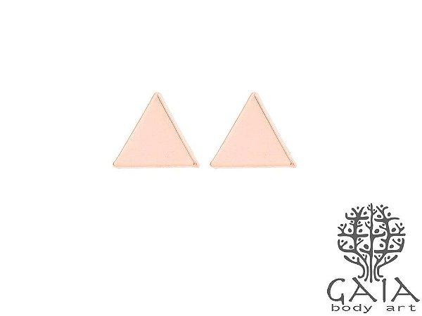 Brincos Triângulo Ouro Rosa [o par]