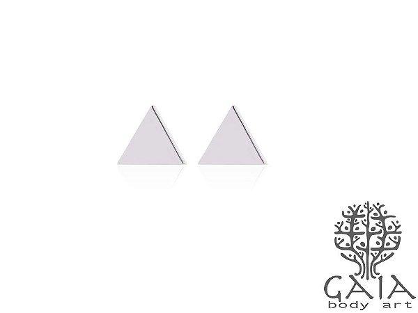 Brincos Triângulo Prateado [o par]