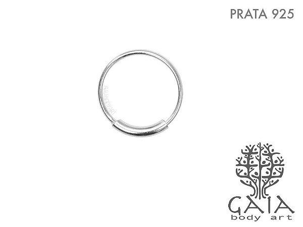 Argola Prata 925 Minimalist Prateada