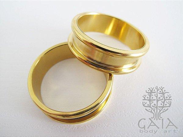 Alargador Dourado Round Edge