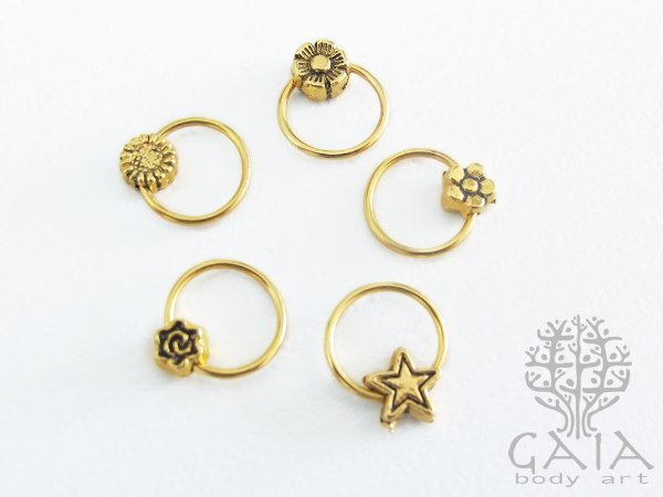Argola Dourada Pingente Dourado