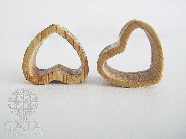 Alargador Madeira Coração