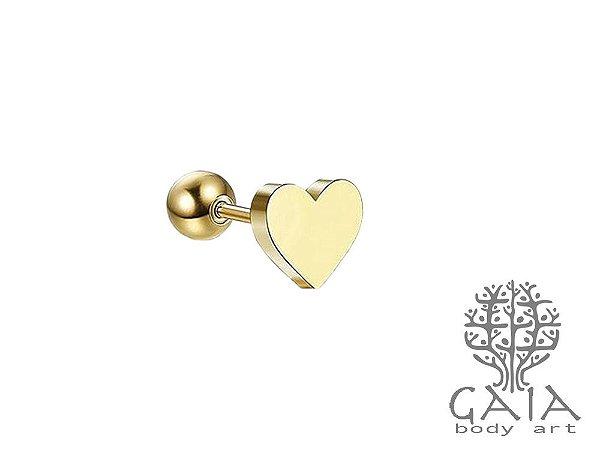 Barbell Coração Dourado
