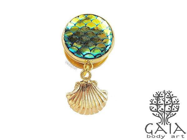 Alargador Dourado Sereia Oceana