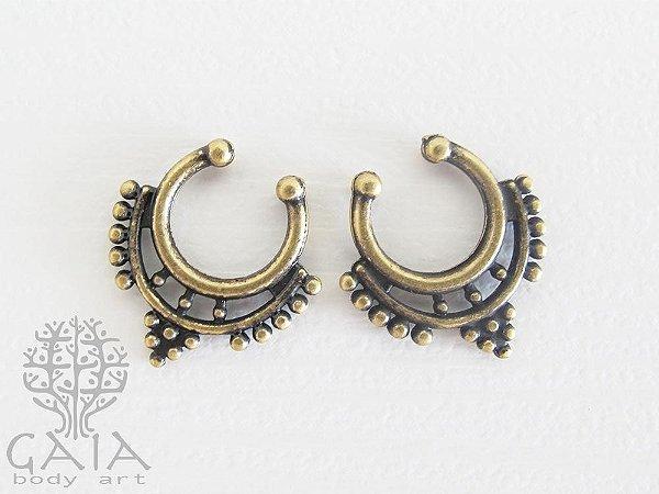 Piercing Falso Clicker Septo Ouro Velho Goa