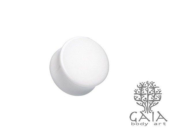 Alargador Plug Acrílico Branco