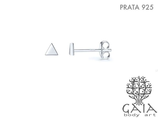 Brincos Prata 925 Mini Triângulo Equilátero [o par]