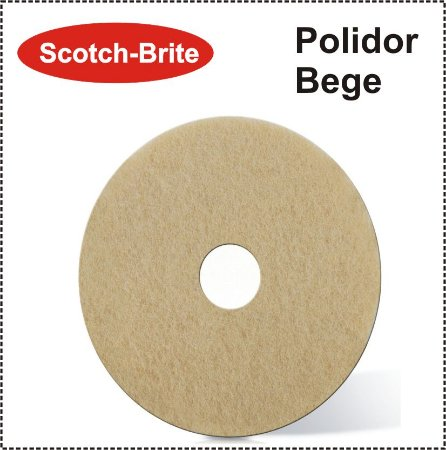 Disco Scotch-Brite Plus - Polidor Bege 3M