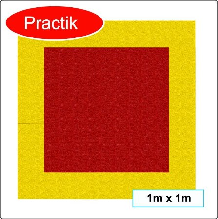 Tapete para demarcação de extintores 1m x 1m ( PRACTIK 3M )