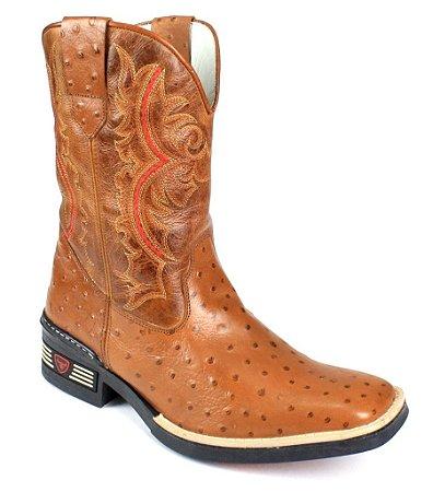 5deb9d263a615 Bota Country Masculina Couro Bovino- Coleção 2016 - Rodeio Boots