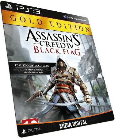 Assassins Creed IV Black Flag Gold Edition PS3 MÍDIA DIGITAL