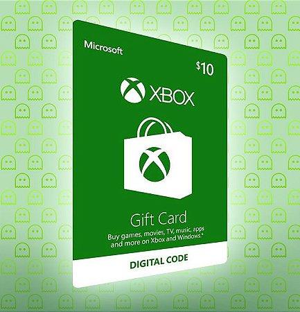 Cartão Xbox Live $10 USA