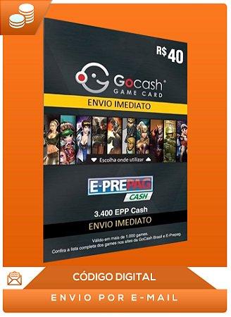 Cartão Go Cash Game Card R$ 40 Reais