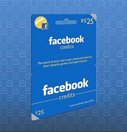 Facebook Card - Cartão R$ 25