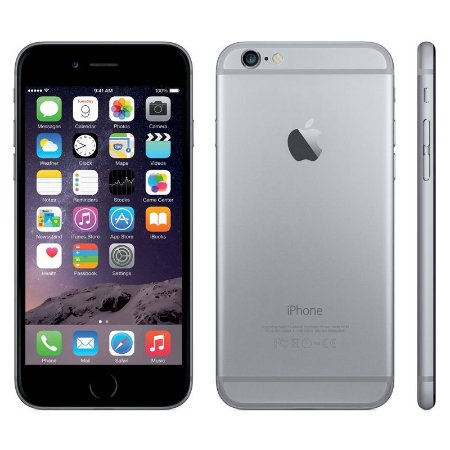 iPhone 6 16gb Apple 4G LTE Desbloqueado Cinza Espacial Usado